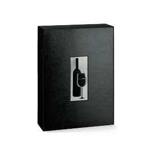 WINE BOX BIANCO-NERO 3 BOTTIGLIE